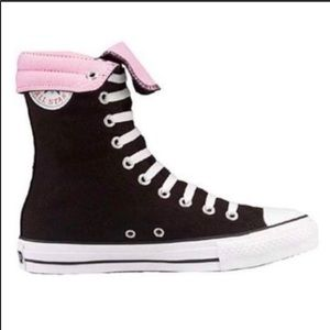 Converse All Star Hi Black/ Pink Sneaker Size 9